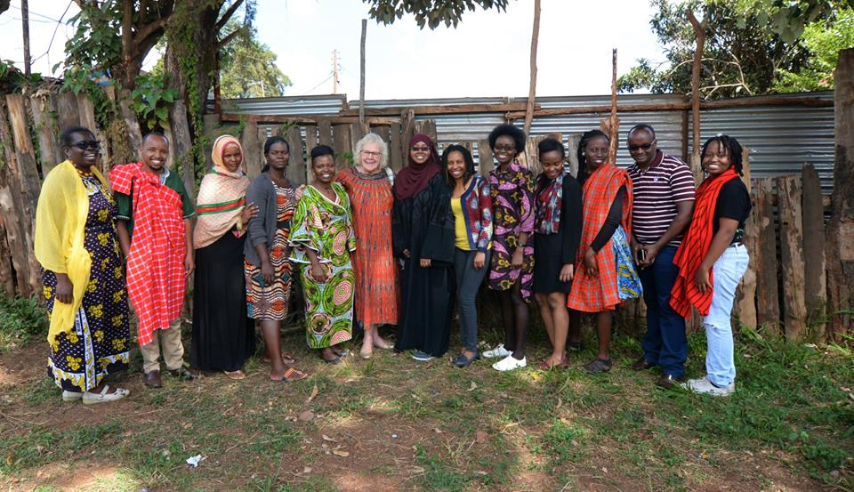 AWN Members with Dr. Jeffries during her visit to Kenya