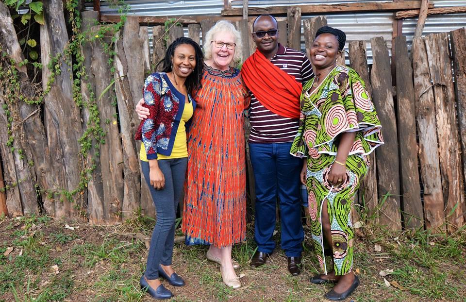 Rotary Peace Fellows Alumni; Regina Mutiru, George Kimani and Dr. Sellah King'oro with Dr. Jeffries