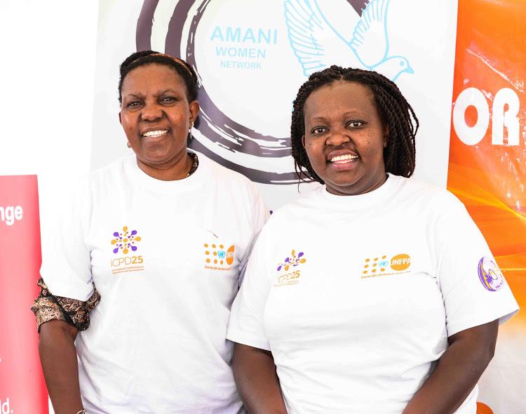 Naomi Gichuru and Pauline Gikang'a