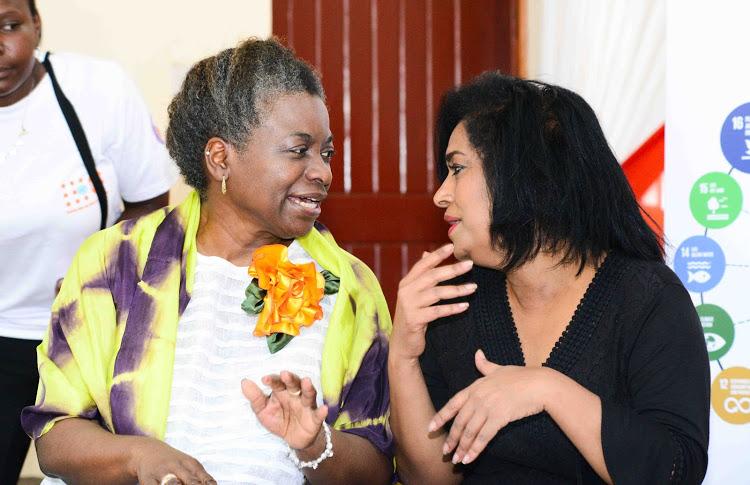 UNFPA Executive Director Dr. Natalia Kanem and Nairobi County Woman Representative Esther Passaris